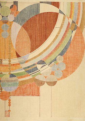 Фрэнк Ллойд Райт. Витраж «Мартовские шары». 1955
