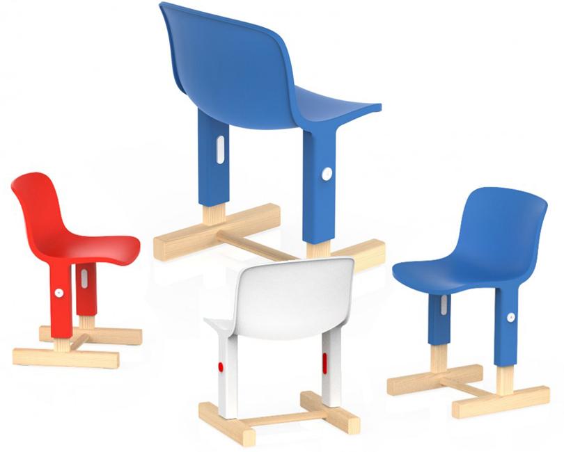 Дизайн & Декор: на вырост. Тренд на детскую мебель-трансформер. Швейцарская студия Big-Game разработала для итальянского бренда Magis MeToo стул Little Big Chair