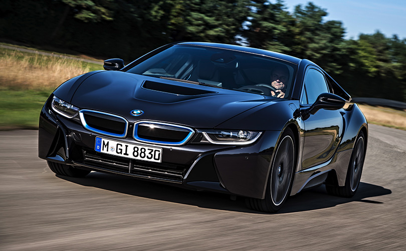 The BMW i8 is a great example of what sporty hybrid cars can be like