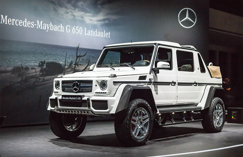 Cars with Jan Coomans: new at the 2017 Geneva Motor Show. Mercedes-Maybach G650 Landaulet