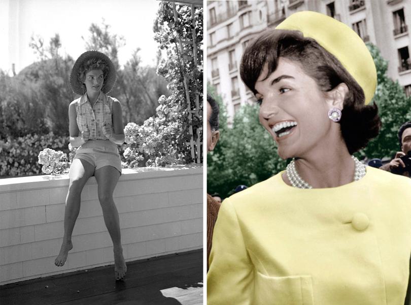 Style Notes: Натали Портман в роли fashion-иконы Джеки Кеннеди. Эволюция стиля Жаклин. 1953г.; Париж, 1961г.