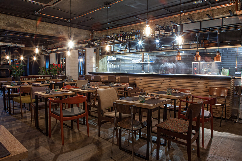 Интерьер Touche' wine bar & kitchen