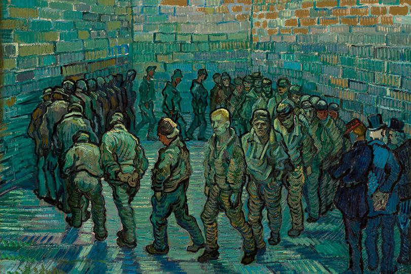 Винсент ван Гог. Прогулка заключенных. Февраль 1890