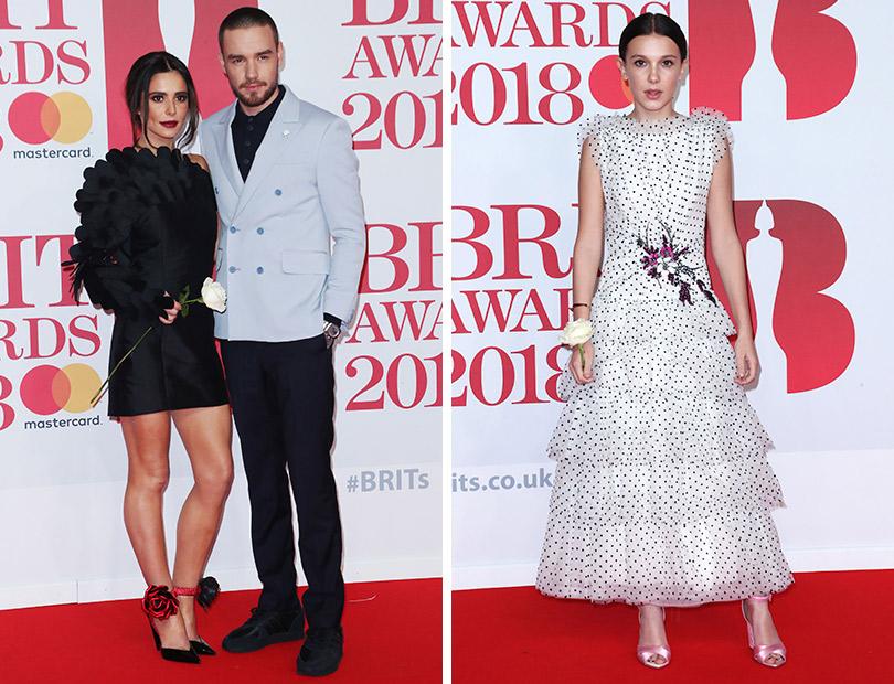 Рита Ора идругие гости премии Brit Awards 2018. Шерил Коул вJean-Louis Sabaji иЛиам Пэйн. Милли Бобби Браун вRodarte