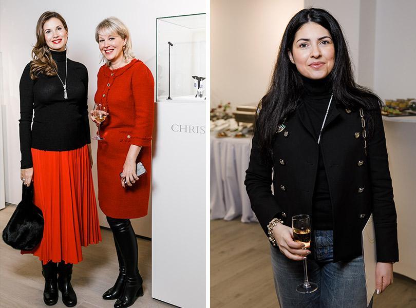 Закрытый показ ювелирных украшений Christie's: Екатерина Винокурова и Ксения Апухтина. Лейли Алиева