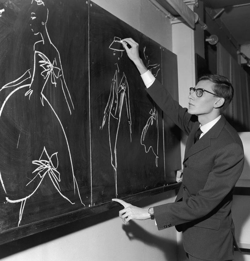 Style Notes: империя роскоши. 70лет Дому Dior. 1957— Молодой Сен-Лоран