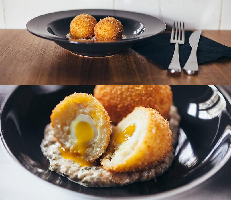 Что на ужин: обновленное меню в Dewar's Powerhouse. Шотландское яйцо скартофельным пюре икопченой треской— самое популярное в«яичном» меню