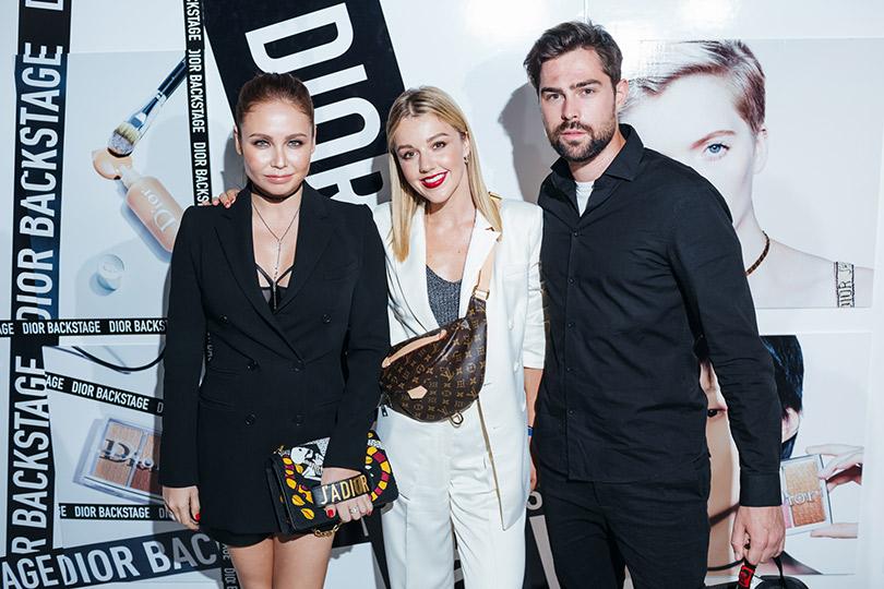 Презентация коллекции профессионального макияжа Dior Backstage Line. Ляйсан Утяшева, Юлианна Караулова и Иван Чуйков