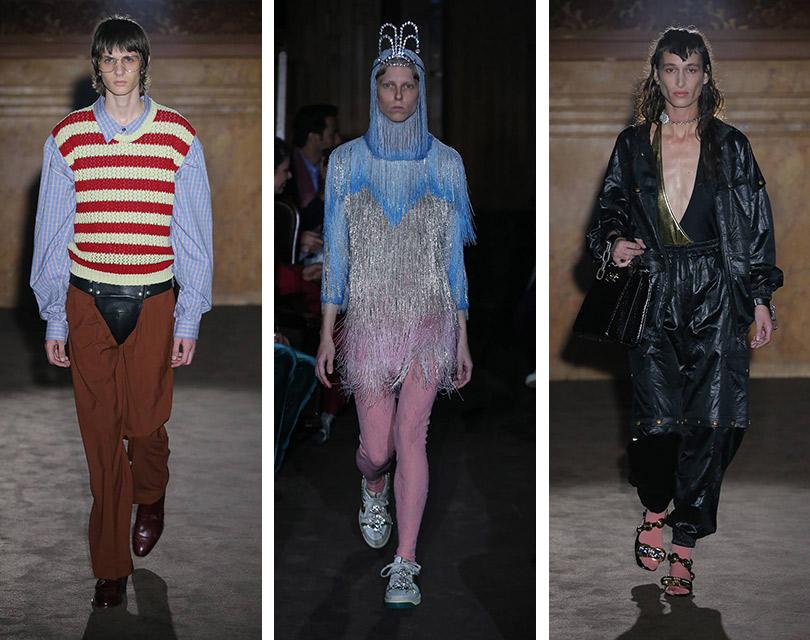Приключения итальянцев воФранции: показ коллекции Gucci наНеделе моды вПариже