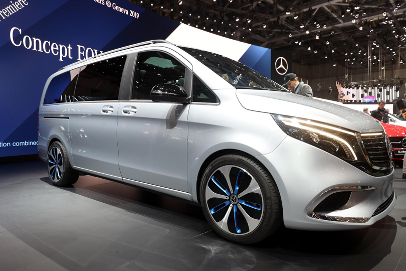 Cars with Jan Coomans. Geneva International Motor Show 2019. Mercedes-Benz EQV