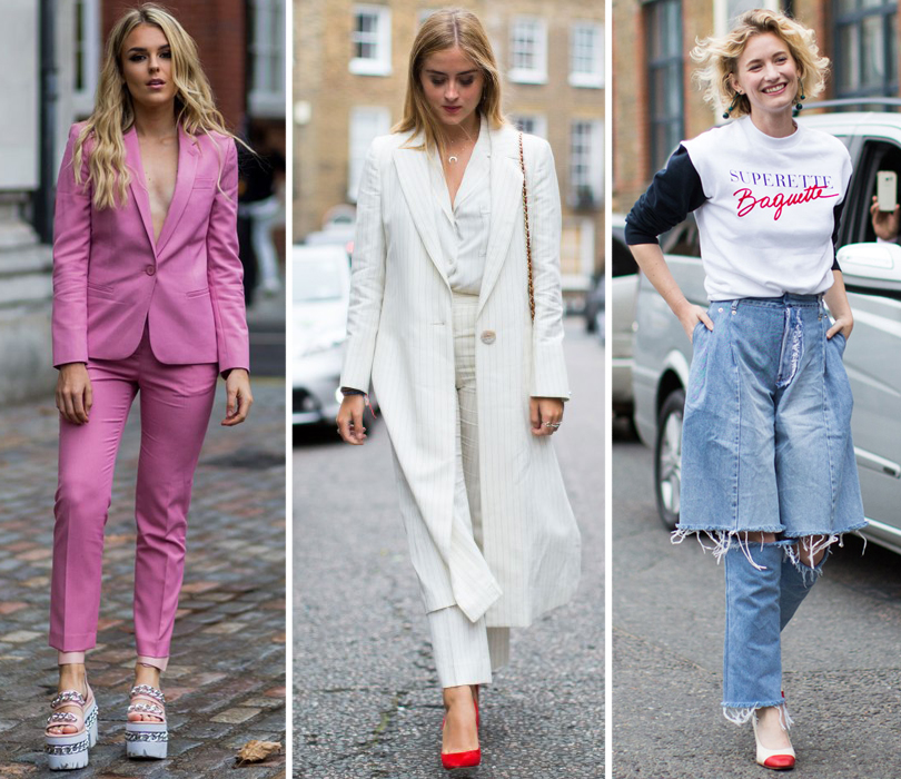 Street Style: лучшие образы на Неделе моды в Лондоне. Певица Талия Сторм. Валентина Ферраньи. Дизайнер Ксения Шнайдер