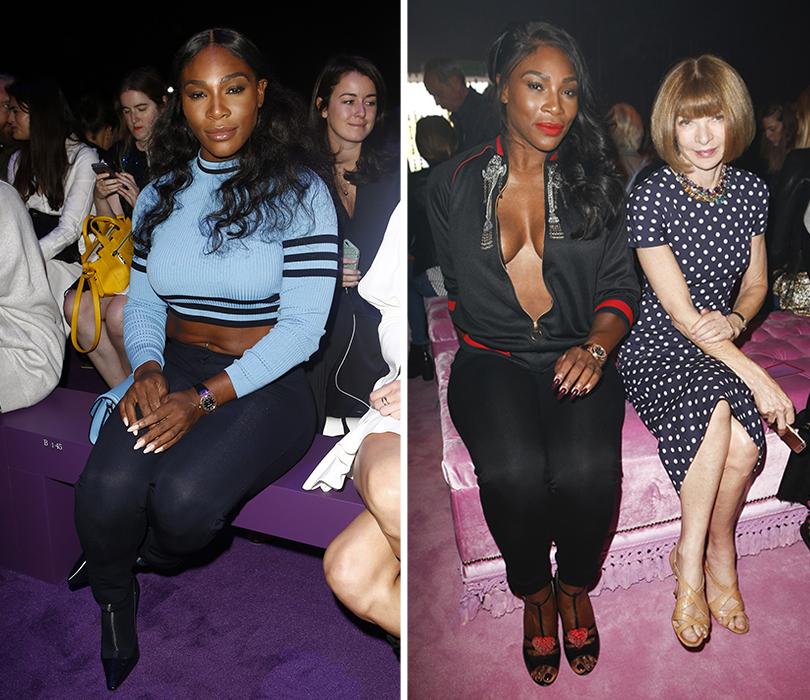 Style Notes: итоги и лучшие моменты Недели моды в Милане. Серена Уильямс напоказе Versace. Серена Уильямс иАнна Винтур напоказе Fendi