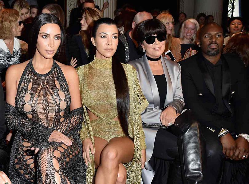 Style Notes: «модная армия» Оливье Рустена на показе Balmain. Ким и Кортни Кардашян, Крис Дженнер