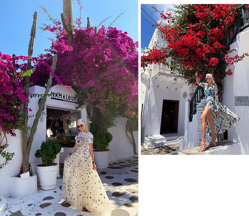 #postatravelnotes Лето. Миконос. Dior Riviera. Яна Рудковская встаром городе