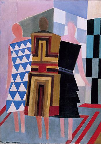 Соня Делоне. Симультанные платья (Три женщины). 1925