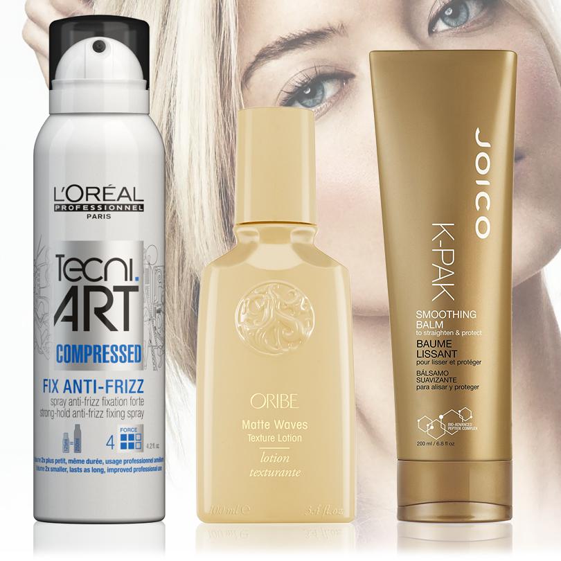 Hair & Style: с новым блондом! Как сохранить цвет волос без желтизны. Matte Waves Texture Lotion от Oribe и Techi Art от L'Oreal Professionnel Paris, Smoothing Balm от Joico