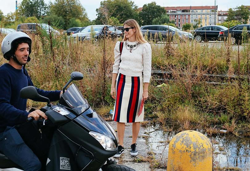 Street Style: уличный стиль на Неделе моды в Милане. Вероника Хейлбрюннер