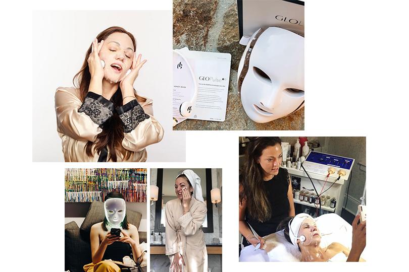 Фирменный уход Джорджии Луиз: GLo Facial помогает сделать кожу упругой иподтянутой иобъединяет всебе неинвазивные методы: микротоки исветодиоды, скульптурирующий массаж икислородную терапию