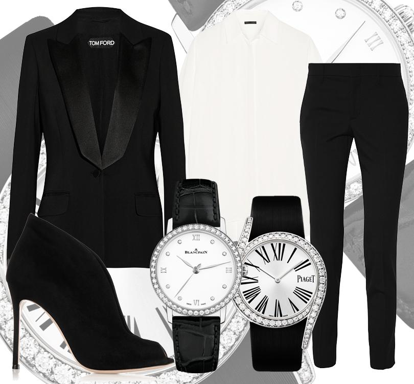 Часы & Караты: 7 лучших черно-белых моделей на любой случай жизни. Монохромные часы Blancpain Ultra-plate, контрастные часы Piaget Limelight Gala Watch
