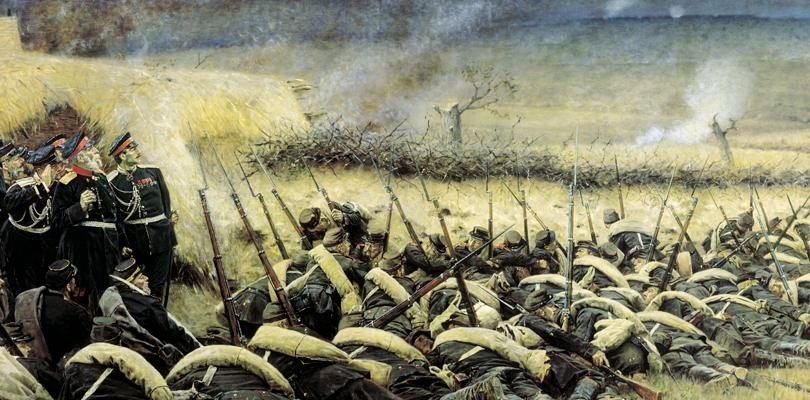 Перед атакой. Под Плевной. 1881