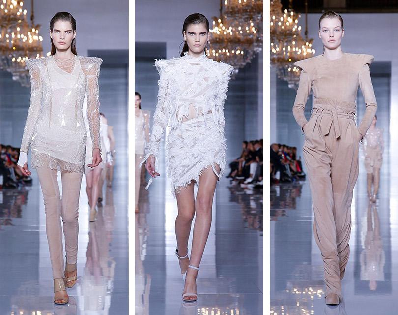 Шито белыми нитками: показ Balmain на Неделе моды в Париже