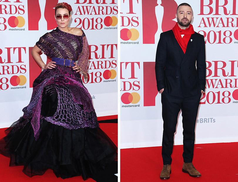 Рита Ора идругие гости премии Brit Awards 2018. Нуми Рапас. Джастин Тимберлейк