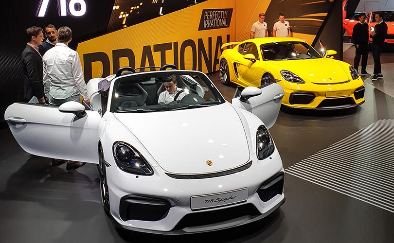 Porsche Boxster Spyder и Porsche Cayman GT4