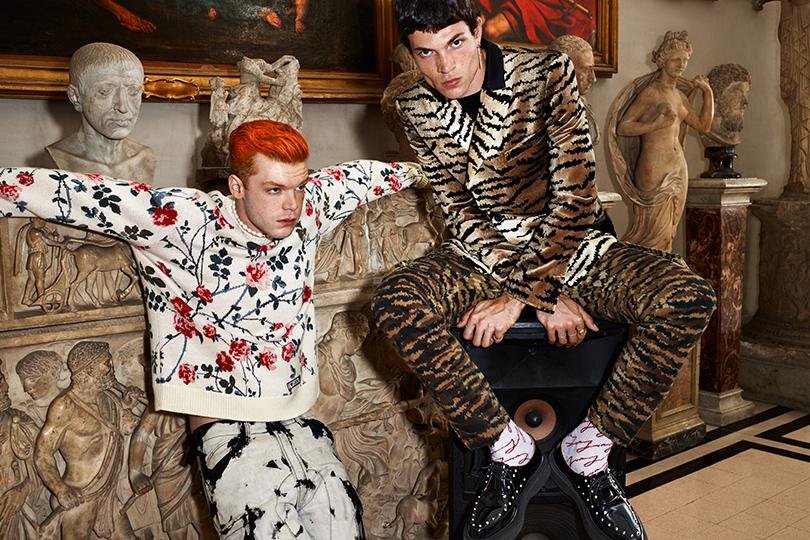 Кендалл Дженнер и Кьяра Ферраньи в рекламной кампании Giambattista Valli x H&M