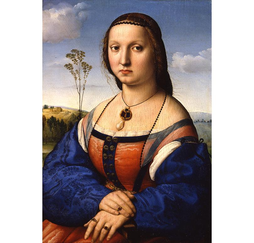 Art & More: по следам Рафаэля. Выставка великого итальянца в Пушкинском музее. Портрет Маддалены Дони, Галереи Уффици, Флоренция
