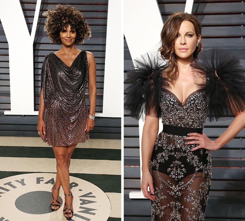 Oscars Special 2017: звезды навечеринке Vanity Fair Oscar Party. Хэлли Берри.  Кейт Бекинсейл