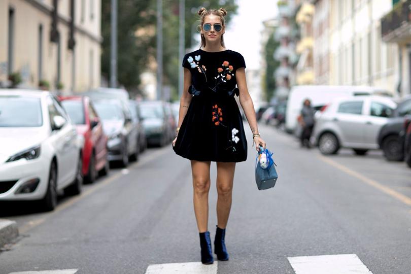 Street Style: уличный стиль на Неделе моды в Милане. Кьяра Ферраньи