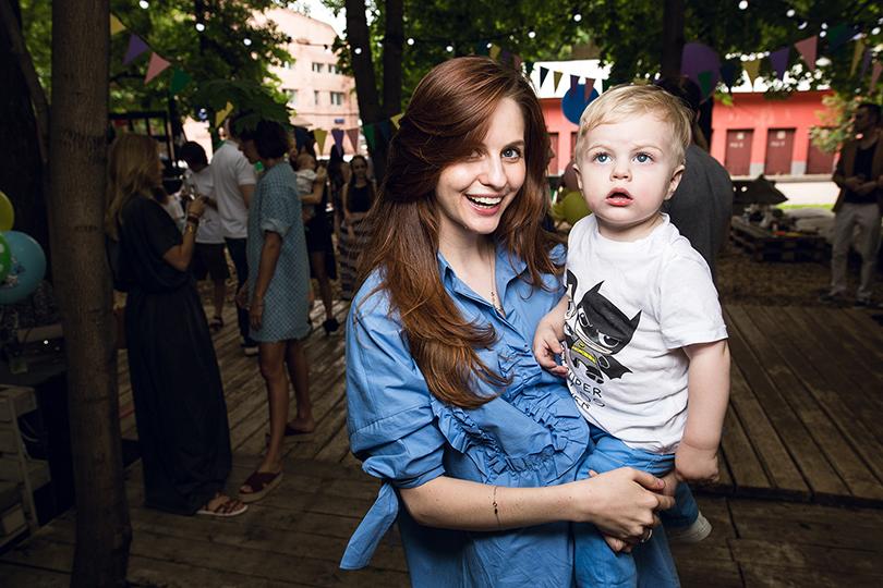 Юлия Прудько с сыном