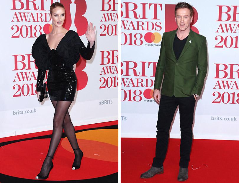 Рита Ора идругие гости премии Brit Awards 2018. Рози Хантингтон-Уайтли. Дэмиэн Льюис