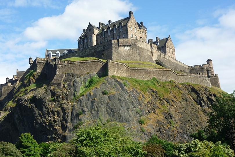 Живописные замки Великобритании. Эдинбургский замок
