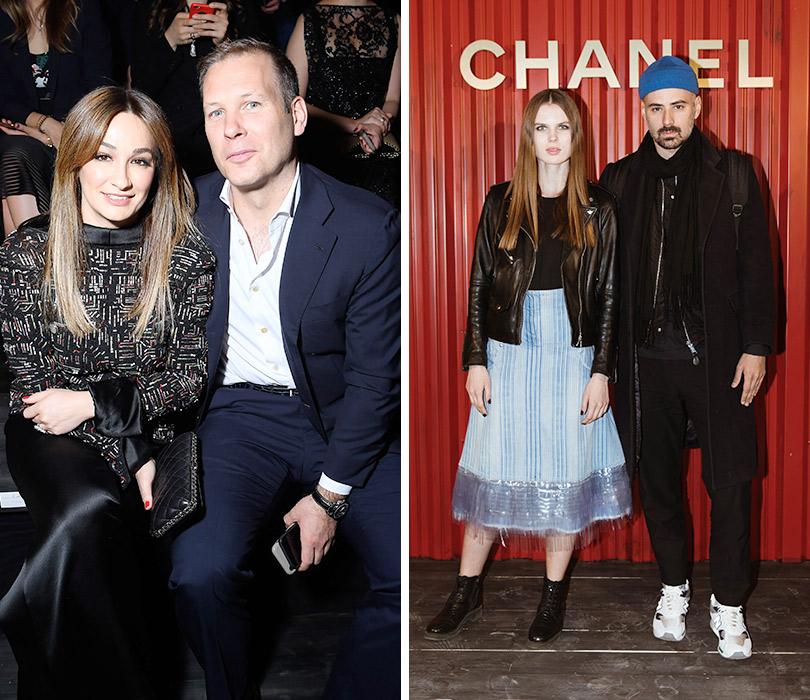 Показ Chanel Métiers d'art Paris— Hamburg вМоскве. Айсель и Луи Трудел. Александра Ревенко и Антон Севидов