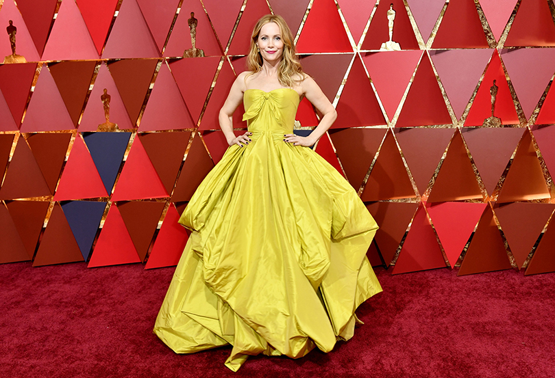 Oscars Special 2017: образы звезд на красной ковровой дорожке церемонии «Оскар». Лесли Манн в Zac Posen