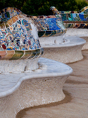 Модерн вархитектуре психиатрических больниц рубежа XIX–XX веков. Барселона, Испания Parc Güell, 08024, Barcelona