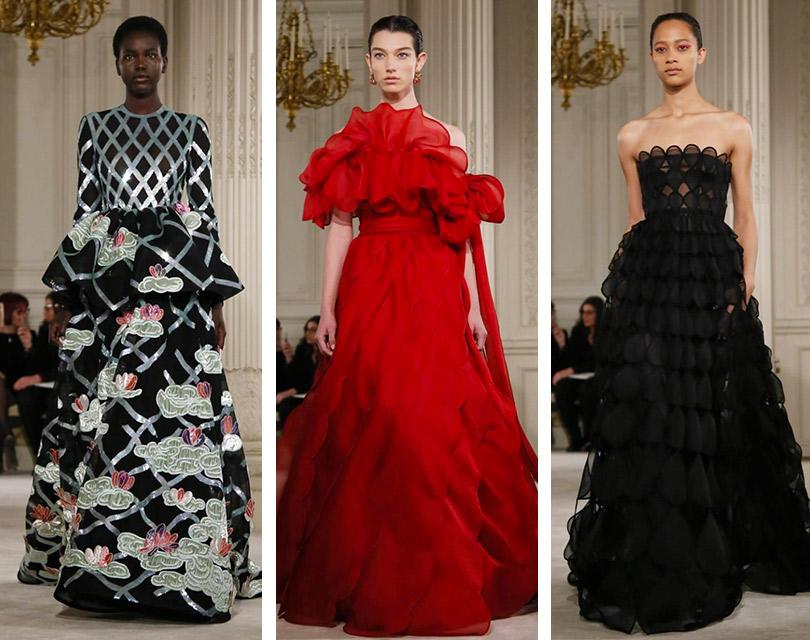 Показ Valentino врамках Недели высокой моды вПариже