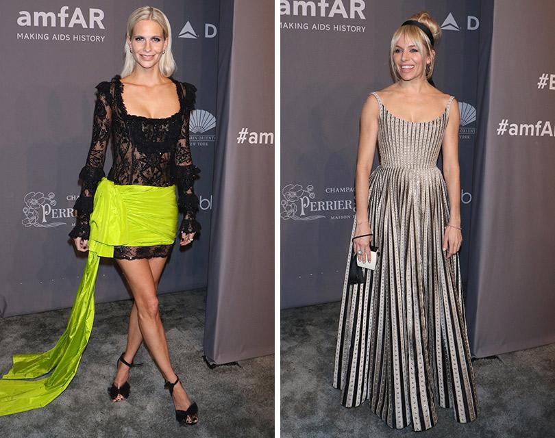 Хайди Клум, Сиенна Миллер идругие гости гала-вечера amfAR вНью-Йорке. Поппи Делевинь. Сиенна Миллер