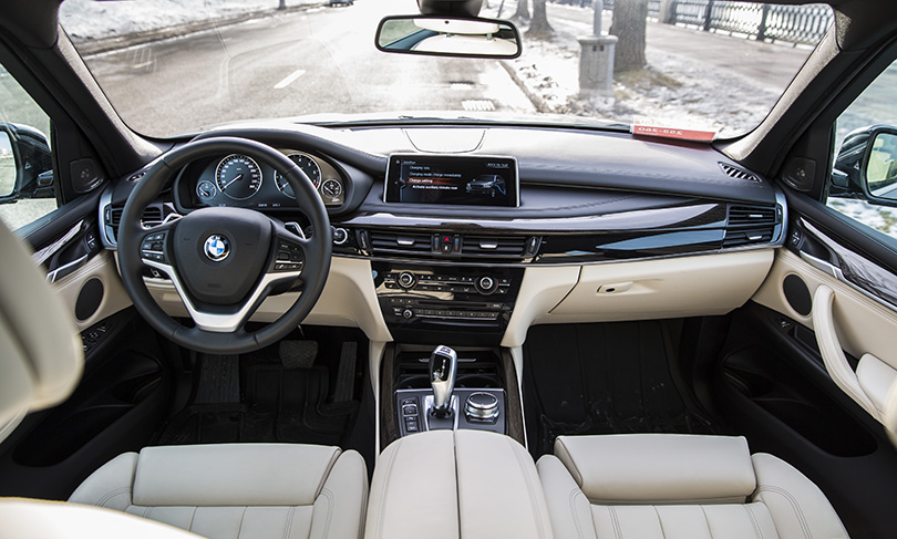 Inside the X5 40e is a very comfortable place to be