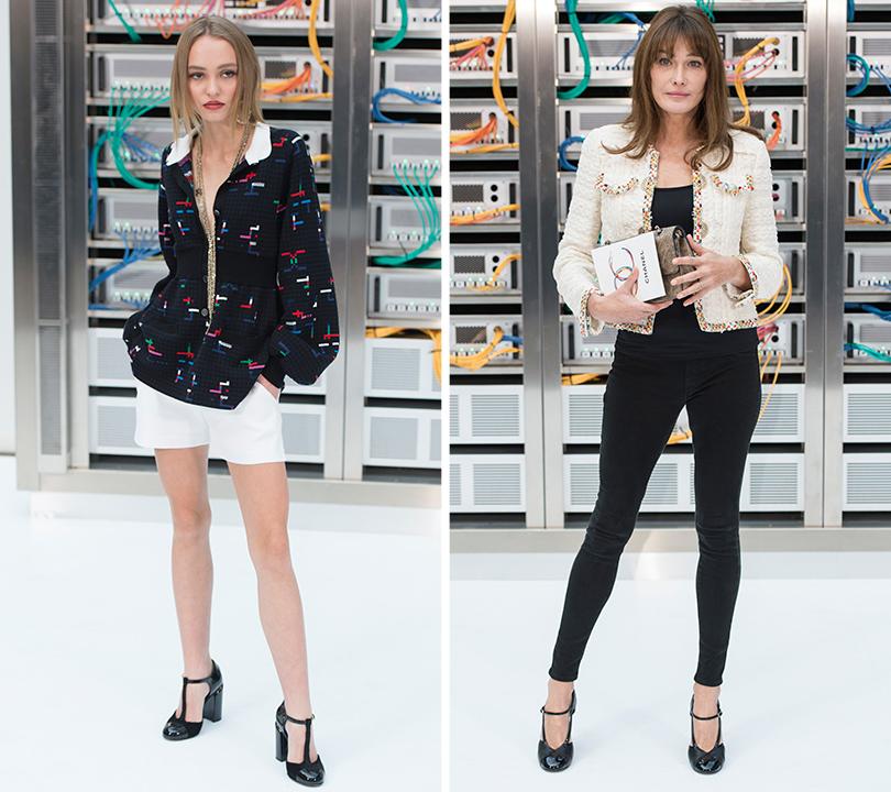 Style Notes: взгляд в будущее. Показ Chanel на Неделе моды в Париже. Лили-Роуз Депп. Карла Бруни