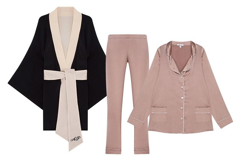Новогодние подарки для миллениалов. Шелковая пижама Primrose или кимоно Agent Provocateur