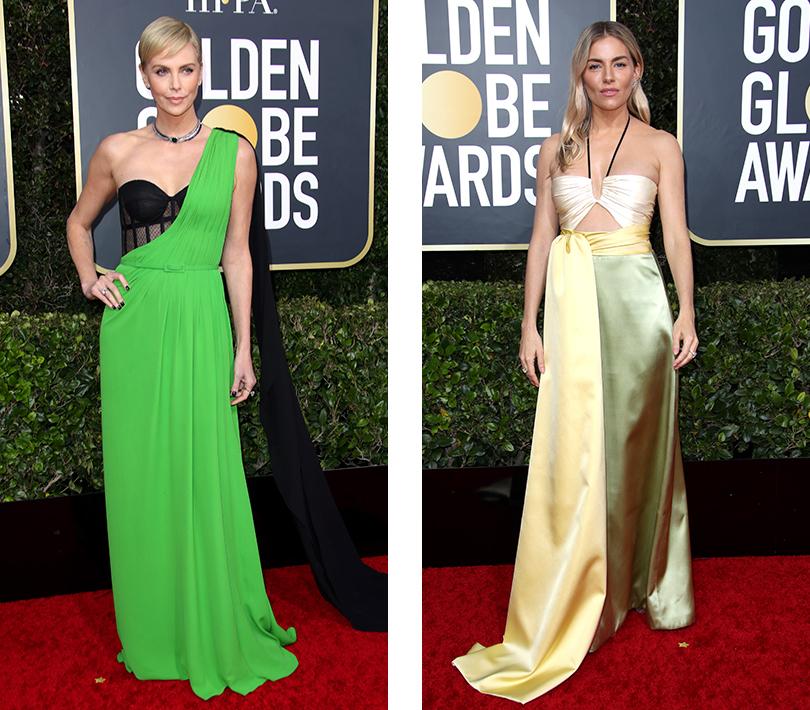 Шарлиз Терон в Dior Couture. Сиенна Миллер в Gucci