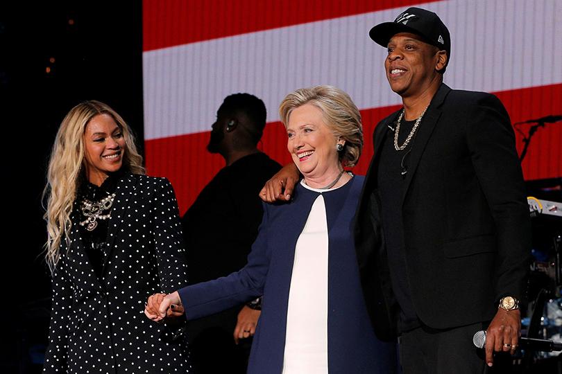 Хиллари Клинтон иее«группа поддержки»: Бейонсе и Джей-Зи...