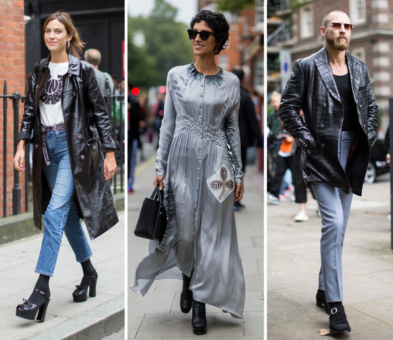 Street Style: лучшие образы на Неделе моды в Лондоне. Алекса Чанг перед показом JWAnderson. Ясмин Севелл. Джастин О'Ши