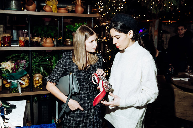 Презентация капсульной коллекции обуви Анки Цицишвили иPortal. Юлия Топольницкая иАнка Цицишвили