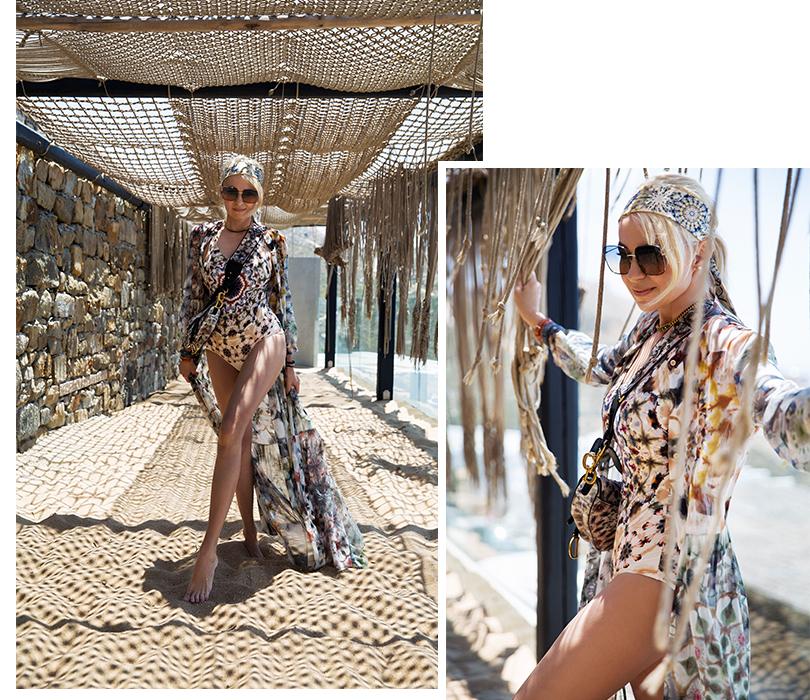#postatravelnotes Лето. Миконос. Dior Riviera. УЯны Рудковской получилась абсолютно миконовская картинка— встиле #diorriviera