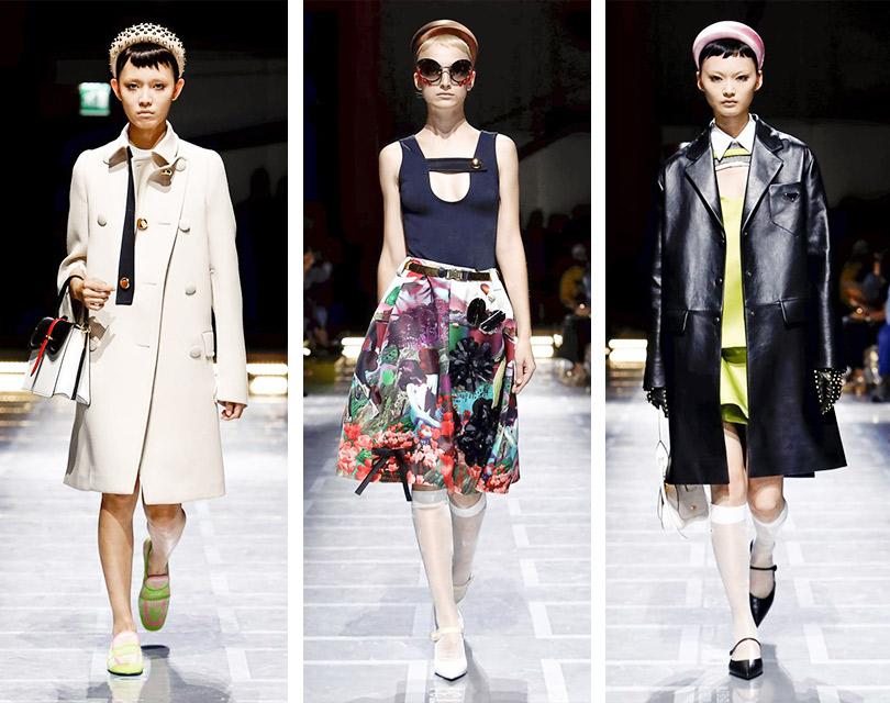 Иснова 60-е! Миучча Прада представила весеннюю коллекцию Prada вМилане