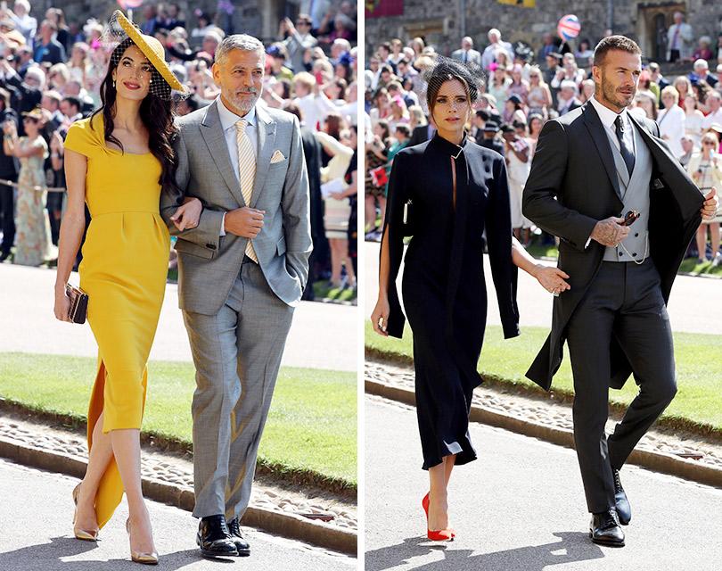 Свадьба Принца Гарри и Меган Маркл. Джордж Клуни и Амаль Аламуддин. Дэвид и Виктория Бекхэм