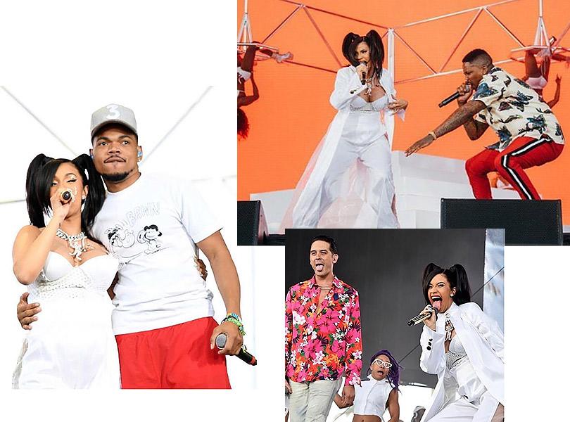 Беременная Карди Бивобразе, вдохновленном концертными костюмами TLC